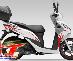 honda vision - limited edition red